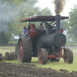 plowing at steam show