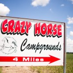 crazy horse campground sign