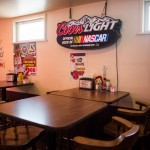 Coors Light Sign over a table