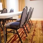 table and chairs in a meeting room